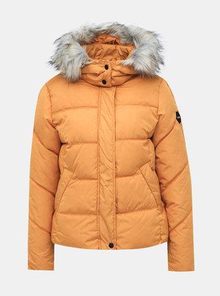 Hořčicová prošívaná zimní bunda ONLY North