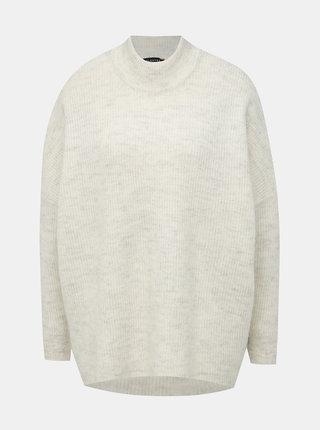 Biely basic sveter s prímesou vlny Selected Femme Fenica