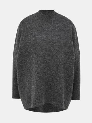 Tmavě šedý svetr s příměsí vlny Selected Femme Fenica