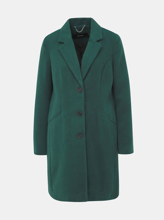 Tmavě zelený kabát VERO MODA Cala
