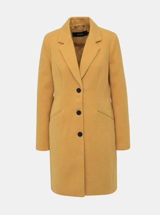 Hořčicový kabát VERO MODA Cala