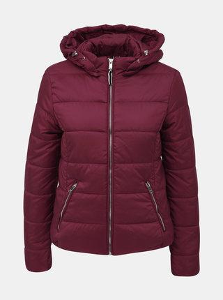 Vínová dámská zimní bunda Alcott