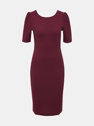 Vínové púzdrové šaty Dorothy Perkins