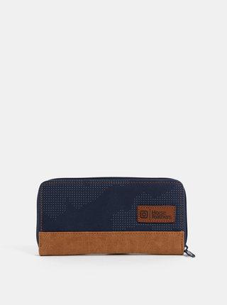 Tmavě modrá dámská vzorovaná peněženka Horsefeathers Tate