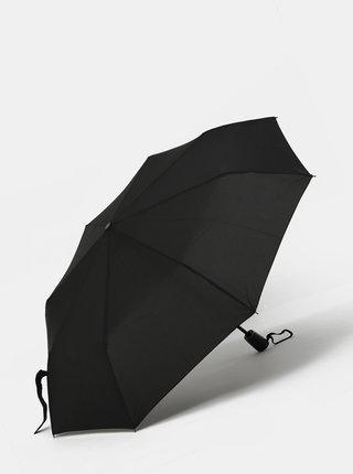 Černý skládací vystřelovací deštník Doppler