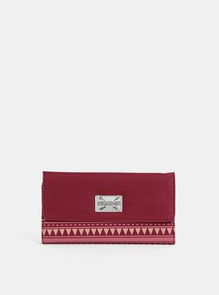 Tmavě růžová dámská vzorovaná peněženka Horsefeathers Ayla
