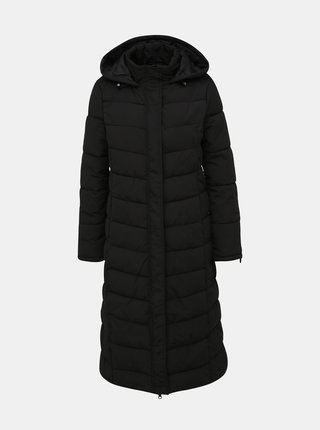 Černý prošívaný zimní kabát Jacqueline de Yong Kammi