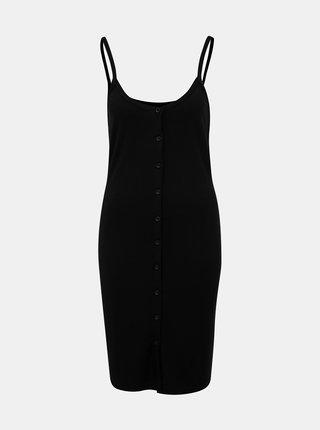 Černé žebrované šaty Noisy May Mox