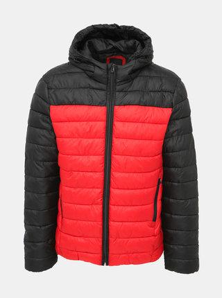 Černo-červená prošívaná bunda ONLY & SONS Steven