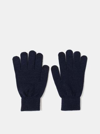 Tmavě modré rukavice na dotykový displej Jack & Jones Chenry