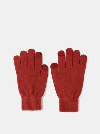 Vínové rukavice na dotykový displej Jack & Jones Chenry