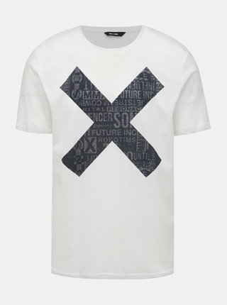 Biele tričko s potlačou ONLY & SONS Abraham