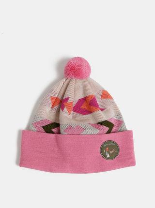 Rúžová vzorovaná čapica Femi Stories Sweetie