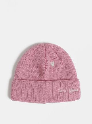 Rúžová čapica s prímesou vlny Femi Stories Speedy