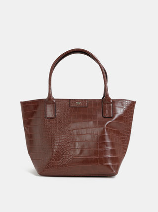 Hnedá kabelka s krokodýlím vzorom Tom Tailor Miri