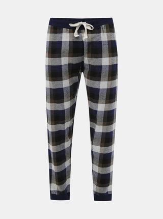 Tmavě modré kostkované pyžamové kalhoty Burton Menswear London