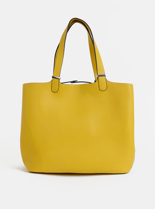 Žlutý shopper s odnímatelným vnitřním pouzdrem Pieces Kopa