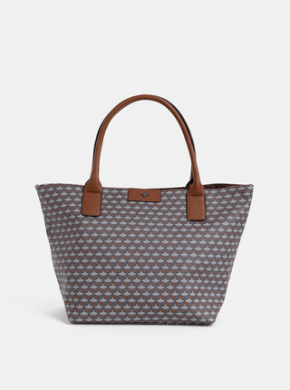 Šedo-hnědá vzorovaná kabelka Tom Tailor Miri