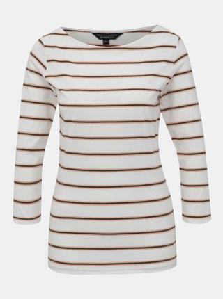 Bílé pruhované basic tričko Dorothy Perkins