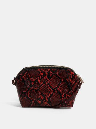 Červená crossbody kabelka s hadím vzorem Dorothy Perkins