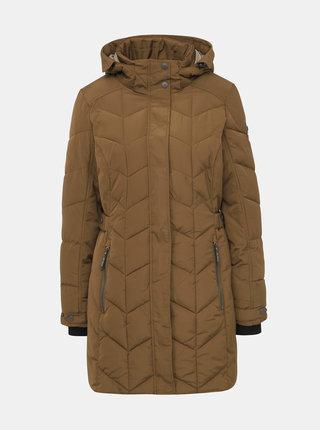 Hnedý dámsky prešívaný kabát killtec Tera