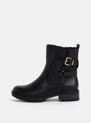 Černé kotníkové zimní boty Dorothy Perkins