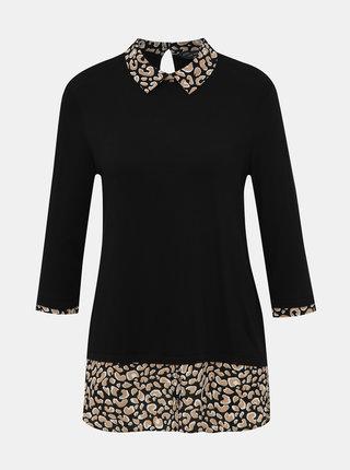 Černá halenka s leopardím vzorem Dorothy Perkins