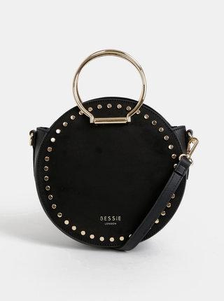 Čierna kabelka v semišovej úprave Bessie London
