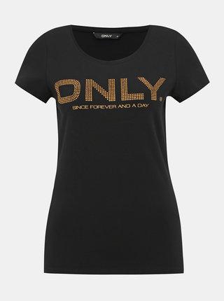 Černé dámské tričko s aplikací Only
