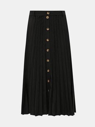 Čierna plisovaná sukňa s gombíkmi Haily´s Lari