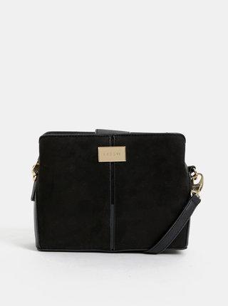 Čierna crossbody kabelka s krokodýlím vzorom Bessie London