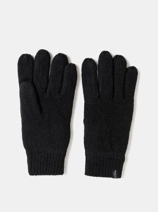 Čierne vlnené rukavice Selected Homme