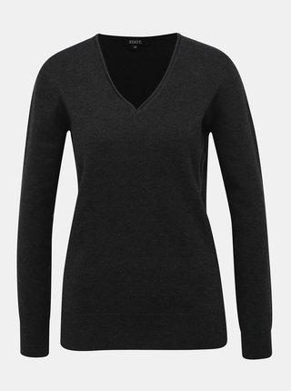Tmavošedý dámsky basic sveter ZOOT
