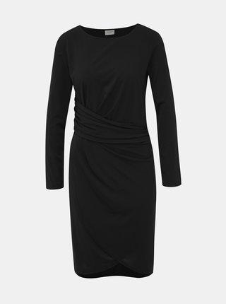 Čierne šaty s prekládanou sukňou Jacqueline de Yong Heart