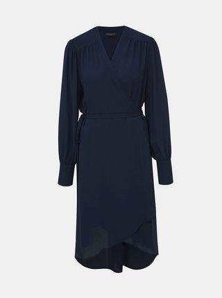 Tmavě modré zavinovací šaty Selected Femme Alva