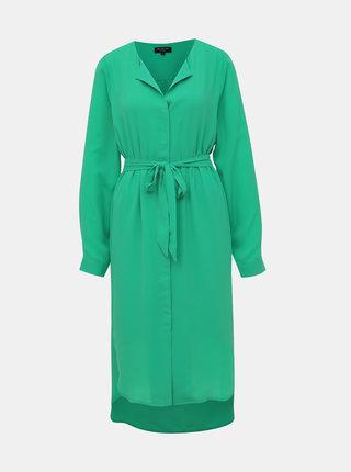 Zelené košeľové šaty Selected Femme Dynella