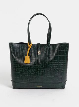 Tmavě zelený shopper s krokodýlím vzorem Paul's Boutique Bianca