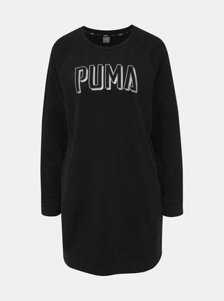 Čierne mikinové šaty Puma Athletics