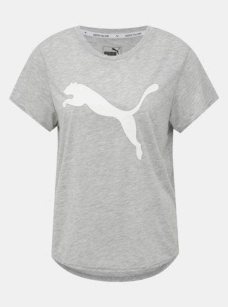 Šedé dámské tričko Puma Evostripe