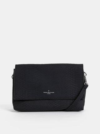 Čierna crossbody kabelka s hadím vzorom Paul's Boutique Ottavia