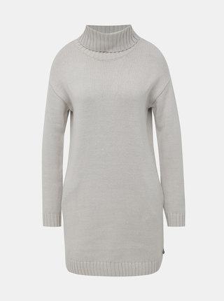 Šedé svetrové šaty s rolákom Roxy Ho Hey