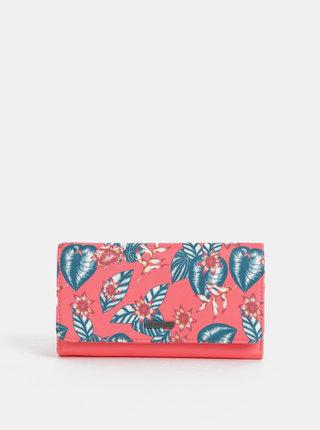 Korálová květovaná peněženka Roxy Hazy Daze