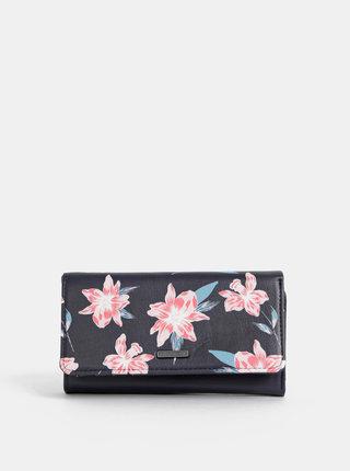 Černá květovaná peněženka Roxy Hazy Daze