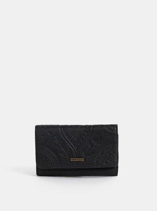Černá vzorovaná peněženka Roxy Crazy Diamond