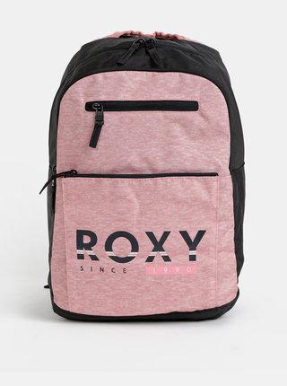 Čierno-ružový batoh s potlačou Roxy Here You Are