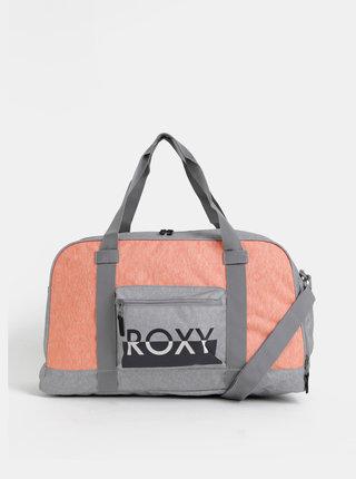 Šedo-oranžová športová taška Roxy Endless Ocean