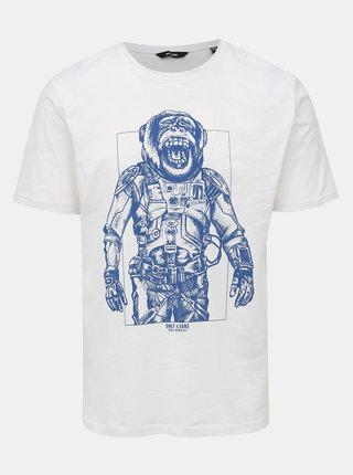 Biele tričko s potlačou ONLY & SONS Alexander