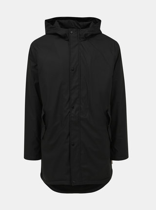 Čierna vodeodolná bunda s vnútoným umelým kožúškom ONLY & SONS Riel