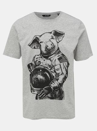 Šedé tričko s potlačou ONLY & SONS Alexander