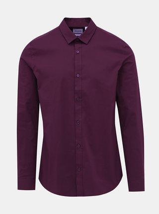 Vínová slim fit košile ONLY & SONS Alfredo